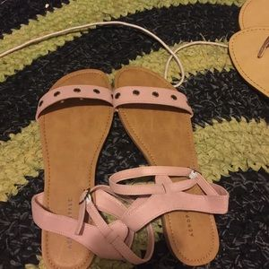 Pink Double Strap Sandals